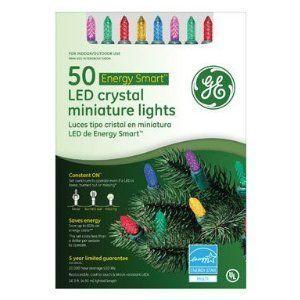 GE 50 Count LED Holiday Mutli Color Crystal Christmas Tree Lights