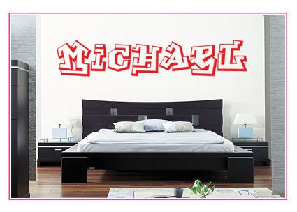 Your Name In Graffiti Vinyl Wall sticker decal Quotes