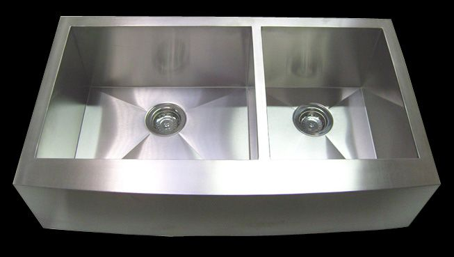 30 Stainless Steel CURVE Front Farm Apron Kitchen sink