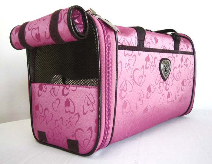 17.5 Pet Carrier Luggage Dog Cat Travel Bag Purse Pink