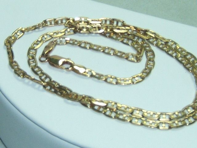 10K Solid Gold Gucci Marine Link Necklace 6.8 grams