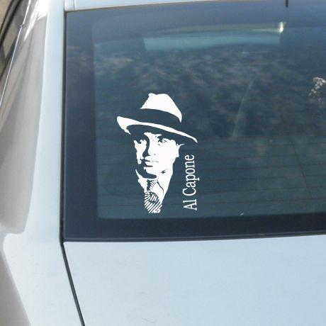 AL CAPONE CUSTOM STICK CAR WINDOW VINYL DECAL STICKER